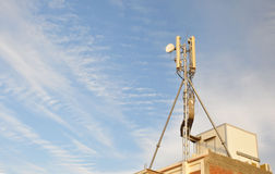 Antenna Cellular. Cellular antenna on the roof of a house in Egypt stock images