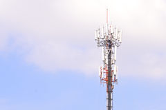 Antenna cellular mobile phone tower Stock Image