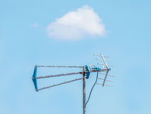 Antenna with Cloud on the Blue Sky. Antenna TV with Cloud on the Blue Sky Stock Photos