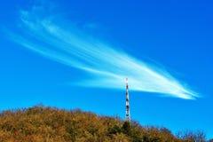 Antenna and cloud Stock Image