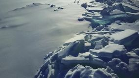 Antenna: Collinette del ghiaccio sul lago Baikal video d archivio