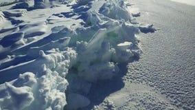 Antenna: Collinette del ghiaccio sul lago Baikal stock footage