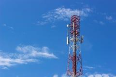 Antenna of Communication Building Stock Image