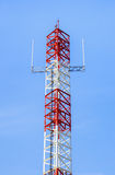 Antenna of Communication Building Stock Images