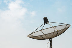 Antenna communication satellite dish on clear sky Royalty Free Stock Photo