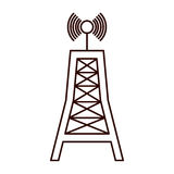 Antenna communication tower Royalty Free Stock Photos