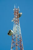 Antenna communications. The multi-directional antenna communications stock photography