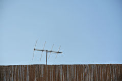 Antenna communicationwith copyspace Royalty Free Stock Image