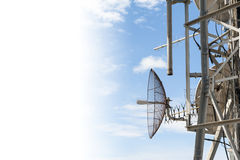 Antenna and copyspace Royalty Free Stock Images