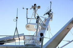Antenna on cruises Stock Photo