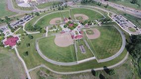 Antenna dei campi di baseball al ranch dell'arenaria immagini stock libere da diritti
