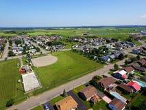 Antenna dei campi di sport in cittadina Fotografie Stock