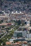 Antenna del centro di Cuenca, Ecuador Fotografie Stock Libere da Diritti