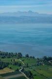 Antenna del lago di Costanza con con al picco di Säntis Fotografia Stock Libera da Diritti