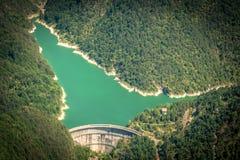 Antenna del lago mountain immagine stock