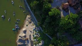 Antenna del mare del crogiolo di ponte della città di Nha Trang video d archivio
