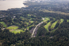 Antenna del nord di Vancouver Fotografia Stock