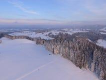 Antenna del paesaggio di inverno Immagine Stock Libera da Diritti
