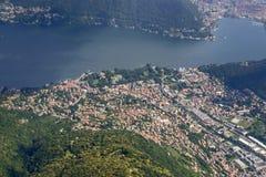 Antenna del villaggio di Cernobbio sul lago Como, Italia Immagini Stock