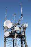 Antenna dell'albero di comunicazione Fotografie Stock