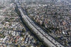 Antenna dell'autostrada senza pedaggio di Los Angeles 405 Fotografie Stock Libere da Diritti