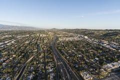 Antenna dell'autostrada senza pedaggio di Los Angeles Ventura 101 Fotografia Stock