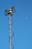 Antenna dell'emettitore della TV Immagini Stock Libere da Diritti