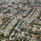 Antenna dell'espansione urbana. fotografia stock