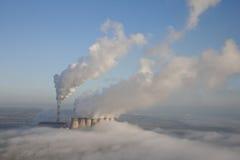 Antenna della centrale elettrica Fotografie Stock