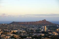 Antenna della città di Honolulu da Diamond Head a Manoa Immagini Stock