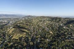Antenna della città e di Hollywood Hills dello studio di Los Angeles Fotografia Stock Libera da Diritti