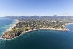 Antenna della costa del Pacifico di Dume Malibu del punto Fotografie Stock Libere da Diritti