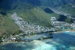 Antenna della penisola di Paiko, Kuli& x27; Ou& x27; Valle del Ou, Hawai Kai, Fotografia Stock Libera da Diritti