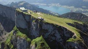 Antenna della sommità di Schafberg, Austria settentrionale archivi video