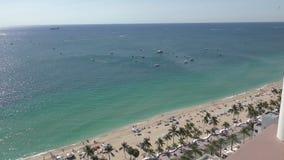 Antenna della spiaggia del Fort Lauderdale stock footage