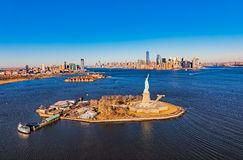 Antenna della statua della libertà di New York immagini stock libere da diritti