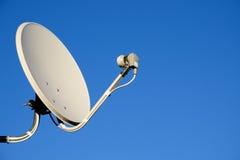 Antenna della televisione via satellite Fotografia Stock