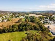Antenna della terra Open fuori dall'itinerario 30 a Gettysburg, Pennsylvnia nella t Fotografia Stock