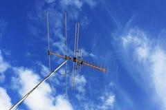 Antenna della TV Immagine Stock