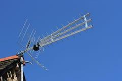 Antenna della TV Fotografia Stock