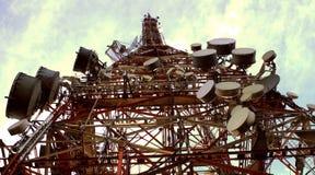 Antenna della TV, Sao Paulo, Brasile fotografie stock libere da diritti