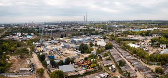 Antenna della zona industriale fotografie stock libere da diritti