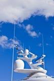 Antenna delle navi e sistema di percorso Fotografia Stock Libera da Diritti