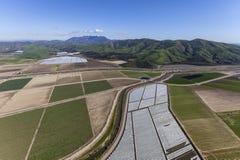 Antenna di agricoltura di California Immagine Stock