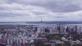 Antenna di Auckland Nuova Zelanda che stabilisce colpo 4k video d archivio