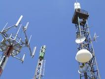 Antenna di comunicazione Fotografie Stock Libere da Diritti