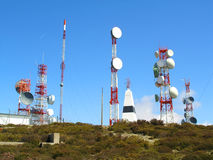 Antenna di comunicazione Fotografia Stock