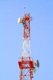Antenna di comunicazioni radio Fotografia Stock