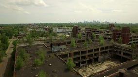 Antenna di Detroit stock footage