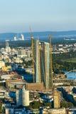 Antenna di Francoforte con il ECB Fotografie Stock